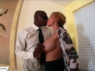 Hot Busty Mature On A BBC Ride