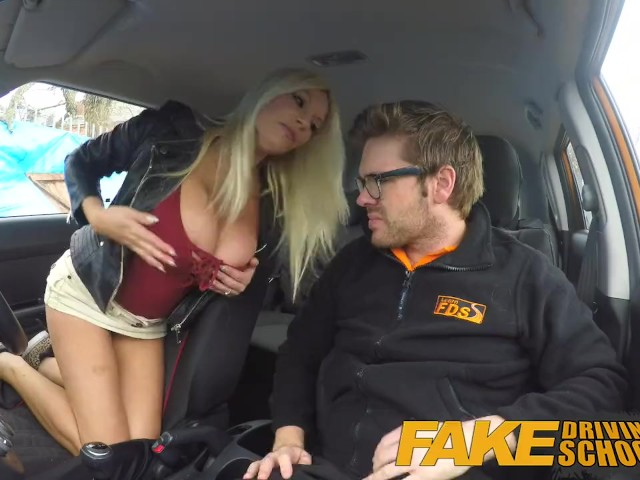 Fake Driving School Threesome