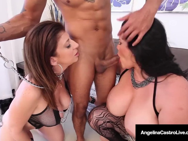 Bbw Submissive - Cuban Bbw, Angelina Castro & Sara Jay Are Submissive Slaves ...