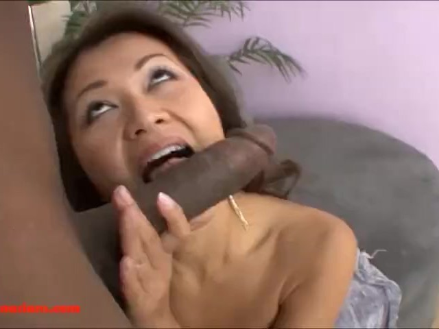 Asian Pounded Black Cock