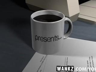 WANKZ- Busty Casey Cumz Beats Parking Ticket