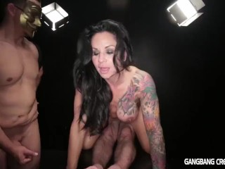 Hot fit Milf gets gangbanged and creampied by 5 guys