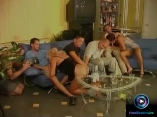 Era and Nelli sexy party with five lucky men