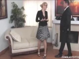 Busty blonde handjob