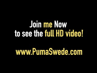 Busty Blonde Puma Swede Fingers Anus While You Cum For Her!