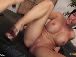 Busty MILF Lesbians Nikki Phoenix and Shay Fox go Pussy Crazy