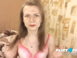 Small tits/her girl trans t cock big
