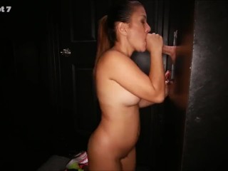 3 Random cock suckers all sucking the cum out of cocks in gloryhole