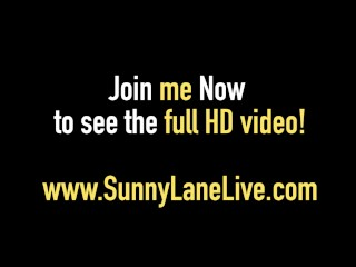 Super Sexy Sunny Lane Gets A Cock In Pussy & Cum On Her Ass!
