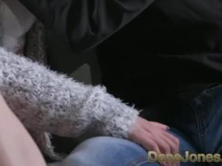 Dan teen in white Jones Blondee panties sucks and fucks to multiple orgasms