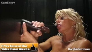 Two groups of girls all sucking older strangers in a random gloryhole