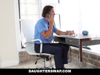 DaughterSwap - Curvy Gamer Girl Fucked By Older Dad