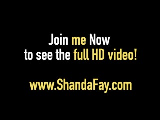 Dirty Talking Shanda Fay Gives You a Dildo Banging Fantasy!
