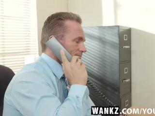 WANKZ- Russian Blonde Subil Seduces Her Boss