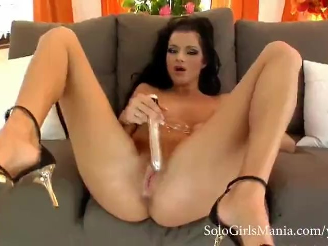 Girl Big Ass Dildo Ride Solo