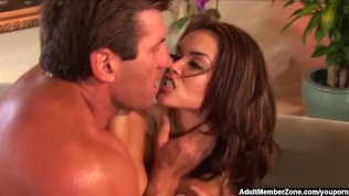 AdultMemberZone - Two tight hotties take on a big white dick.
