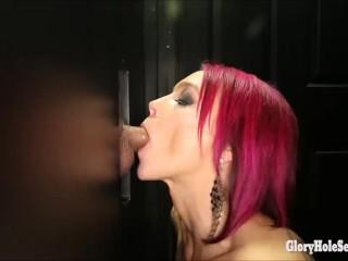 Girls love gloryholes and strangers hard cocks