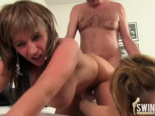 The Swinger Experience Presents Hanns with two girls after work