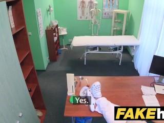 Fake Hospital Doctor gives sexy ebony Brazilian student a hard fucking