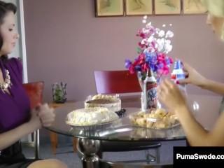 Swedish Amazon Puma Swede & Veronica Avluv Make Pussy Pie!