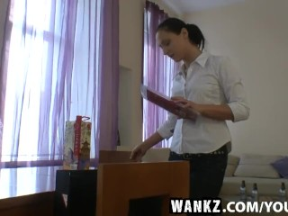 WANKZ- Two Hot Lesbians Play with Dildo