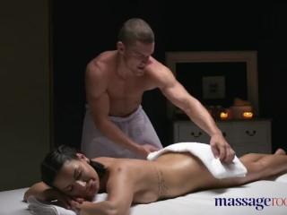 Massage Rooms Brunette Serbian hottie has multiple orgasms from big dick