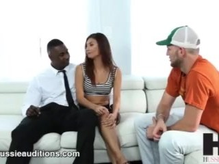 Hussie Auditions: Latina Brunette Jade Jantzen Takes Her First BBC and Ends in Anal