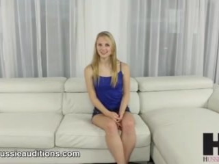 Hussie Auditions: Blonde Teen Lily Rader Like it Rough in Audition Tape