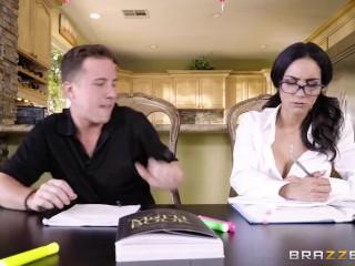 Hot Brunette Schoolgirl Fucks Her Study-Buddy - Brazzers