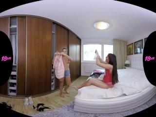 18VR Anal Threesome With Eveline Dellai And Silvia Dellai VR Porn.mp4