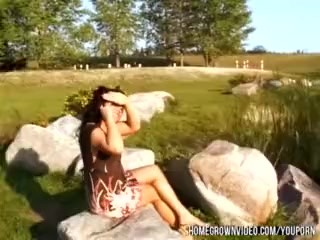 Cumming On Wifes Face At The Park