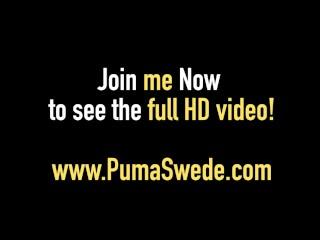 Swedish Sex Goddess Puma Swede Gets A Hot Load In Her Face!