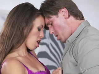 MOM Horny MILF gives hot stud sloppy blowjob and fucks in every position