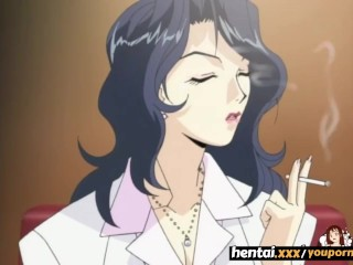 Busty MILF Seduces a younger guy and swallows his load - Hentai.xxx