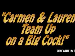 Carmen Valentina and Lauren Phillips 3Some FuckFest