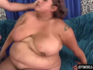 Erotic chubby bitch Veruca Darling showing off and receiving shaft