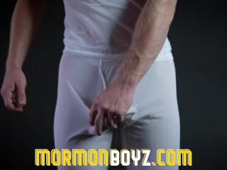 Mormonboyz - Huge cock pumps cum in boy's ass