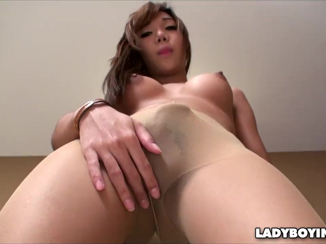 Curved Cock Asian Ladyboy In Pantyhose - Free Porn Videos -1300