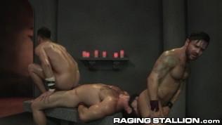 RagingStallion Jaxton Wheeler & Bruno Bernal Sweaty Hardcore 3Way