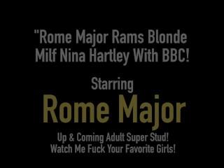 Rome Major Rams Blonde Milf Nina Hartley With BBC!