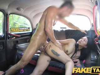 Wrong Taxi Hot Thai lady with piered twat lips enjoys British cock