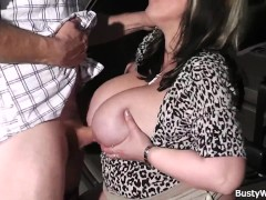Busty working woman gets...