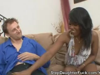 Stepdad Gets A Blowjob From Coffee Brown
