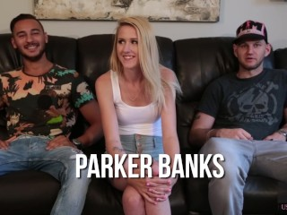 Hussie Auditions: 18 YO Sexy Blonde Parker Banks in First and Only Sex Scene