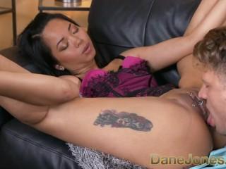 Dane Jones Lustful tattooed pierced Thai hottie in lingerie takes cremapie in her anus