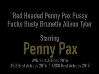 Red Headed Penny Pax Pussy Fucks Busty Brunette Alison Tyler