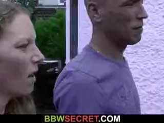 Wife leaves and he screws hot blonde fatty