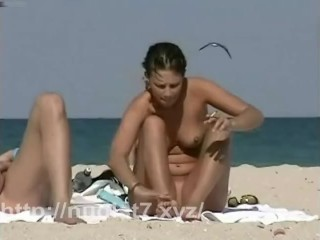 Nudist beach filled with naked pussies