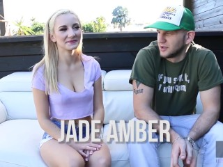 Hussie Auditions: Hot Blonde Teen Jade Amber Gets Fucked Outside