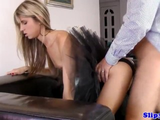 Blowjob/oldvsyoung/trio before british blonde old